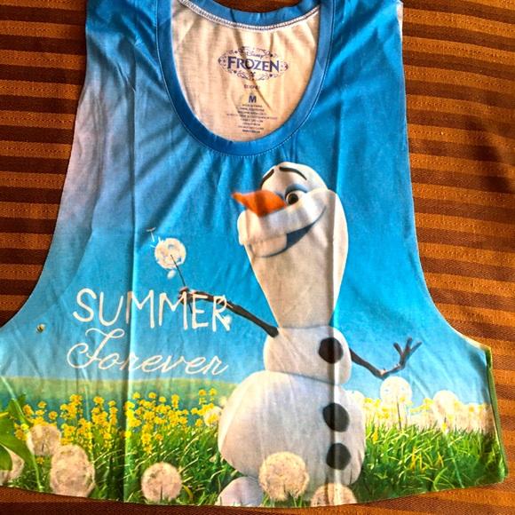 Disney Frozen Olaf Crop Tank Jr Top available M-XL